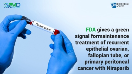 FDA gives a green signal for maintenance treatment of recurrent epithelial ovarian, fallopian tube, or primary peritoneal cancer with Niraparib