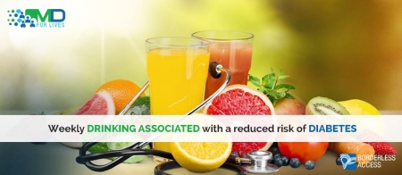 Weekly drinking associated with a reduced risk of diabetes